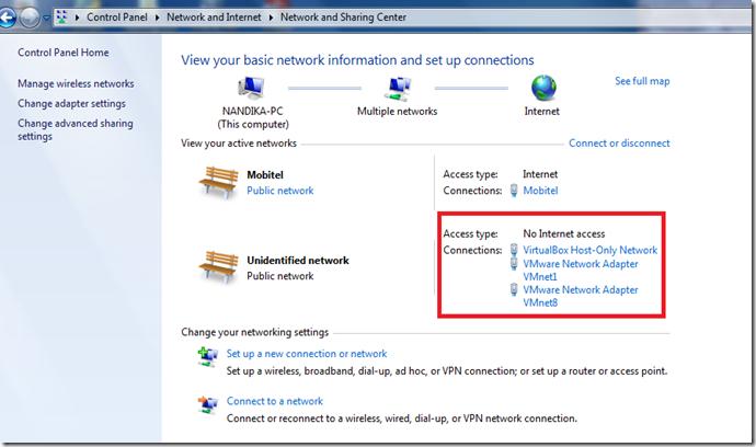 Nandika S Blog How To Fix Vmware Server 2 0 Vm No Internet Access Issue On Windows 7