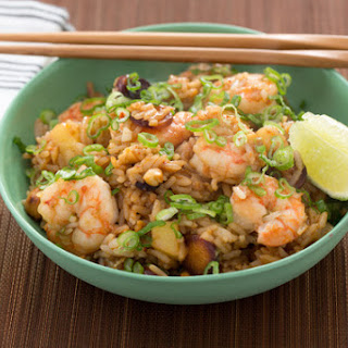 Shrimp & Pineapple Fried Rice with Cashews & Sambal Oelek