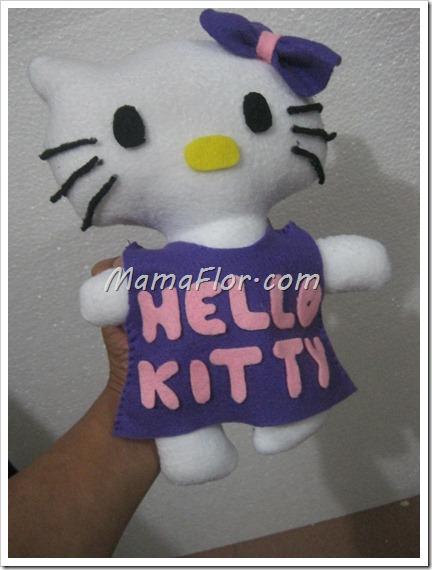 Como hacer una Hello Kitty de Fieltro