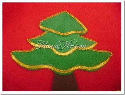 Como hacer la base o pie del Árbol navideño -5139