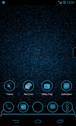 Holo Dark Next Launcher Theme
