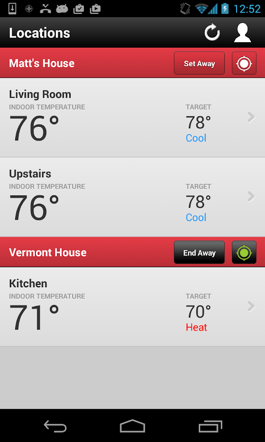 Wi-Fi Enabled Radio Thermostat- screenshot