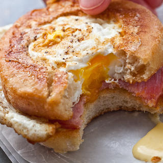 Egg-in-a-Nest Benedict Sandwiches