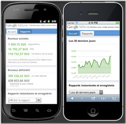 adsense iphone