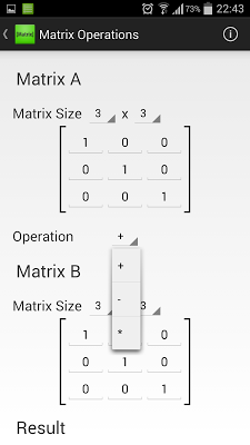 Matrix Tools (Linear Algebra) - screenshot