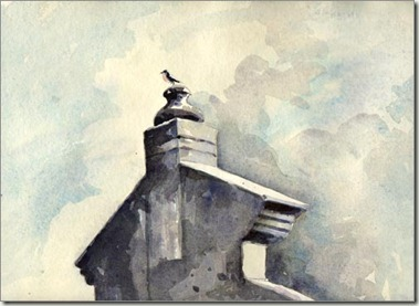 bird on parapet
