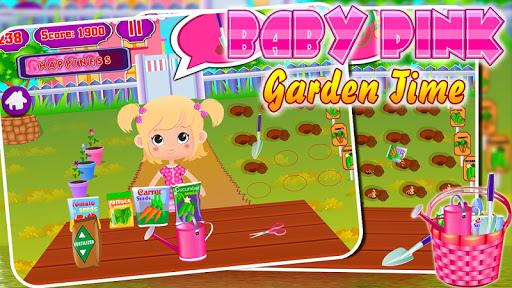 Sweet baby girl garden time