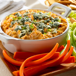 Disappearing Buffalo Chicken Dip.