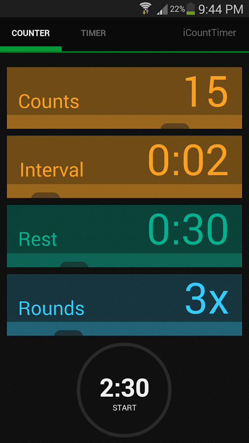 iCountTimer Free - screenshot