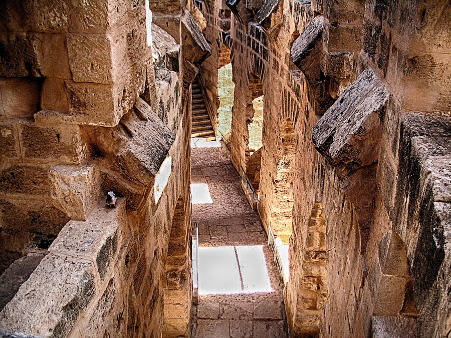 El jem by Maja  Marjanovic - Buildings & Architecture Other Interior ( romans, interior, gladiators, amphitheater, detail, architecture ·, buildings, show,  )
