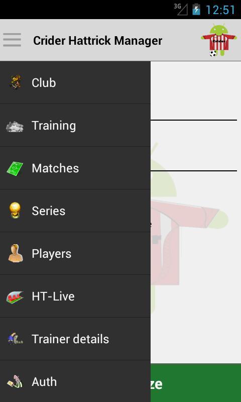 Crider Hattrick Manager- screenshot