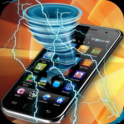 トルネード電気ジョーク画面 模擬 App LOGO-APP開箱王
