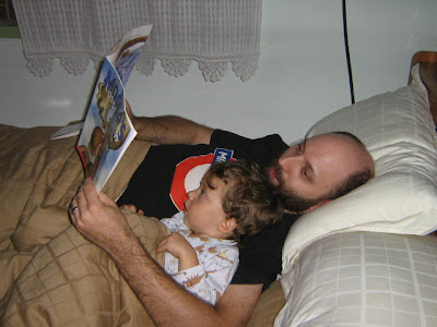 Reading with my son