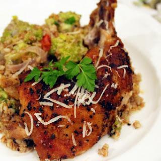 Pan-Seared Chicken & Romanesco Bulgur Salad