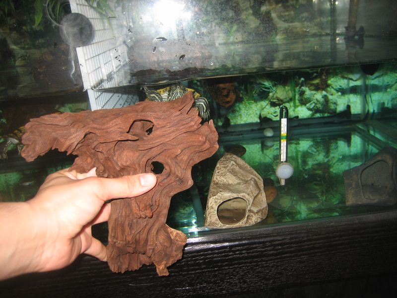 DIY underwater turtle basking platform