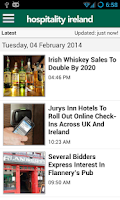 Screenshot of Hospitality Ireland