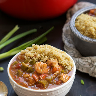 {One Bowl} 30 Minute Big Easy Shrimp and Chicken Gumbo