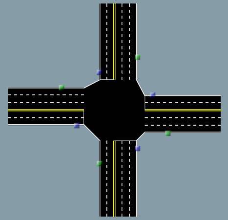 Road intersections can have varying numbers of lanes