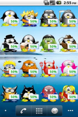 Mini Tux Battery Widget Free - screenshot