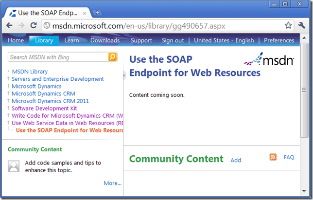 CRM2011 SOAP EndPoint Doc