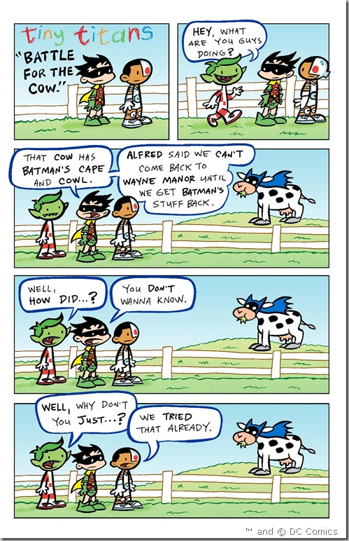 "from DCU The Source: Tiny Titans ""Battle for the Cow"""