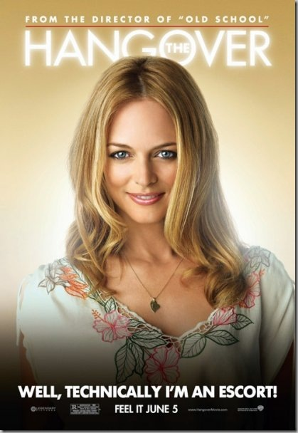 Heather Graham in The Hangover [click for more character posters from the movie on their Facebook page]