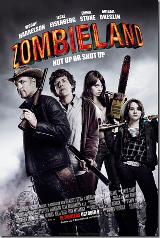 ZOMBIELAND theatrical poster [click to enlarge] © 2009 Columbia Tristar Marketing Group, Inc. All rights reserved.