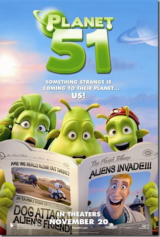 PLANET 51 poster © 2009 Columbia Tristar Marketing Group, Inc. All rights reserved. [click to enlarge