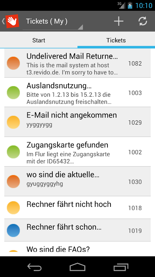 weclapp - Helpdesk - screenshot
