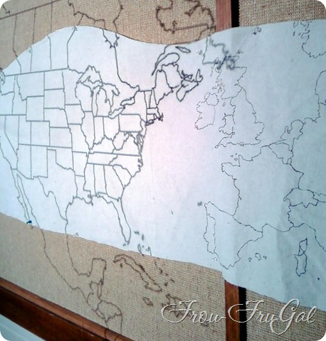 Projecting Map onto Drop Cloth