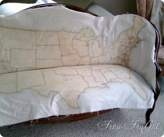Settee - Map fabric dry fit