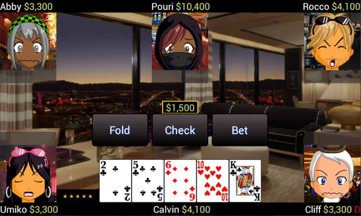 Super Five Card Draw Poker - screenshot