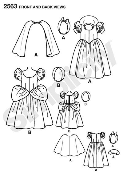 Disfraz de Blancanieves con patrones básicos