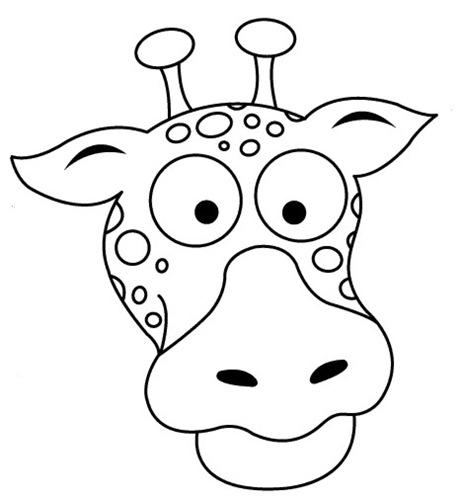 Máscara de jirafa para imprimir y pintar