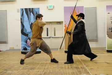 Thomas Forde (right) as Wotan in Seattle Opera Young Artists Program's SIEGFRIED AND THE RING OF FIRE