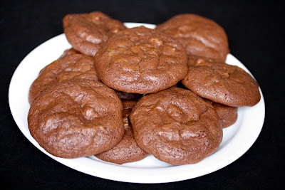 photo of a plate of Brownie cookies