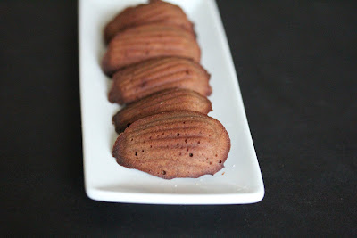photo of a plate of Chocolate Madeleines