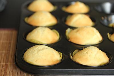 photo of kiwi cupcakes in a cupcake pan