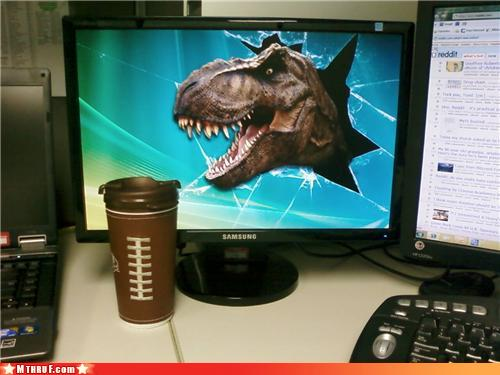 photo of an awesome T-Rex computer wallpaper