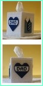 multiple photos of dad tissue box cover
