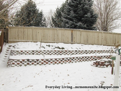 photo of our snow covered berm