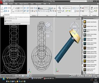 programa autocad 3D sólidos con comando Revolve