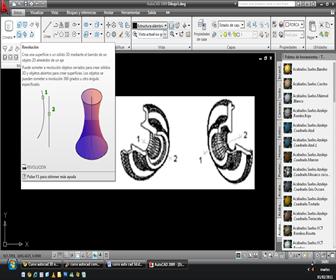 autocad 3D online Crear sólidos por comando Revolve