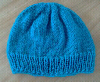 Free Knitting Pattern Beanie 8ply Very Simple Free