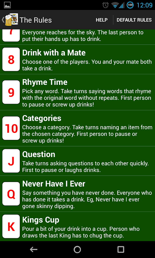 2 player easy drinking card games