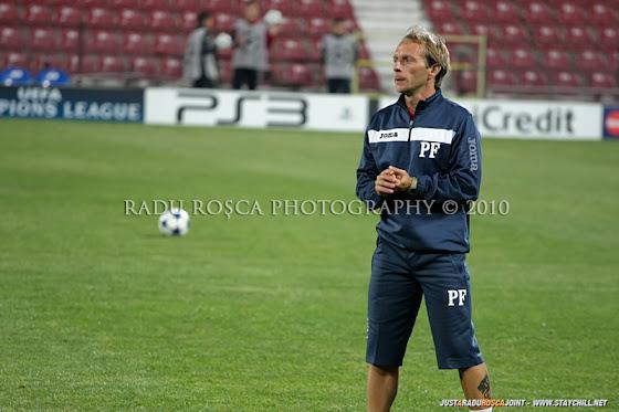 UEFA Champions League 2010/11. CFR Cluj - FC Basel 2-1 // Paulo Potocnik, fostul preparator fizic al FCM