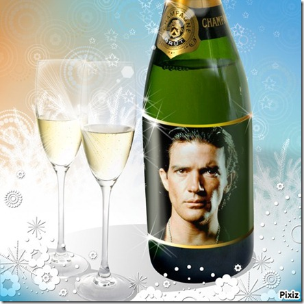 botella de champaña