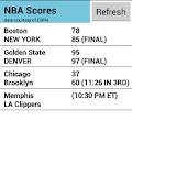 Sports Scores Widget