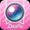 かわいい写真加工&文字入れはDECOPIC★無料カメラアプリ icon