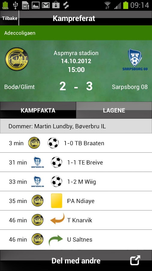 MinFotball - screenshot